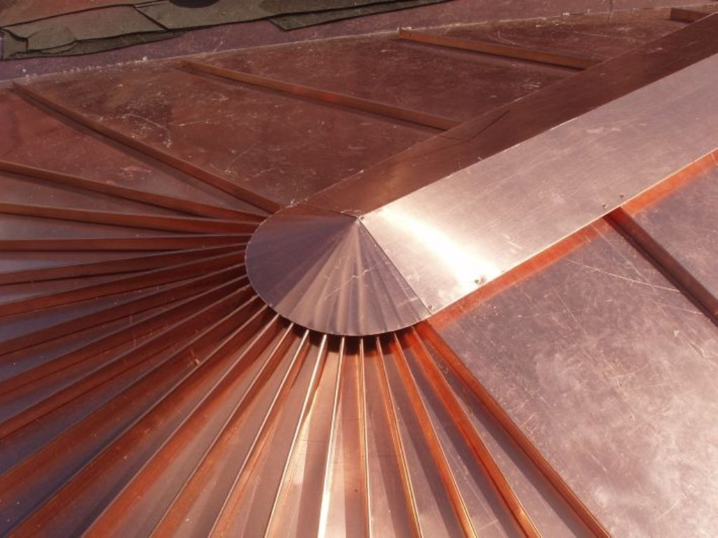 Freedom Gray Copper Roof Panels
