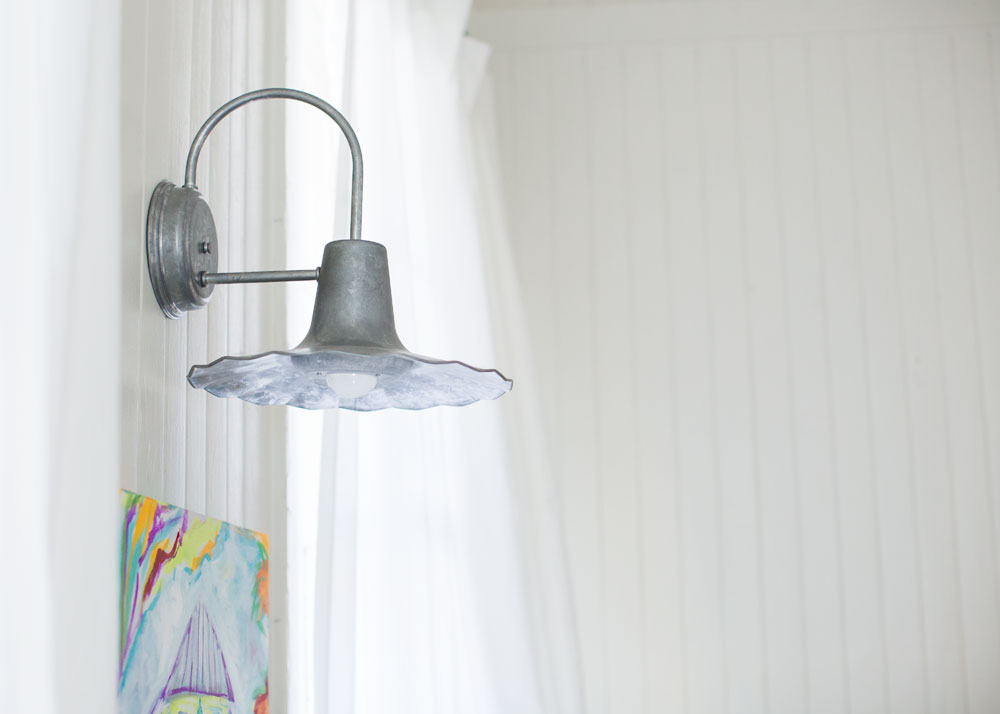 Image of: Galvanized Wall Sconce Barn