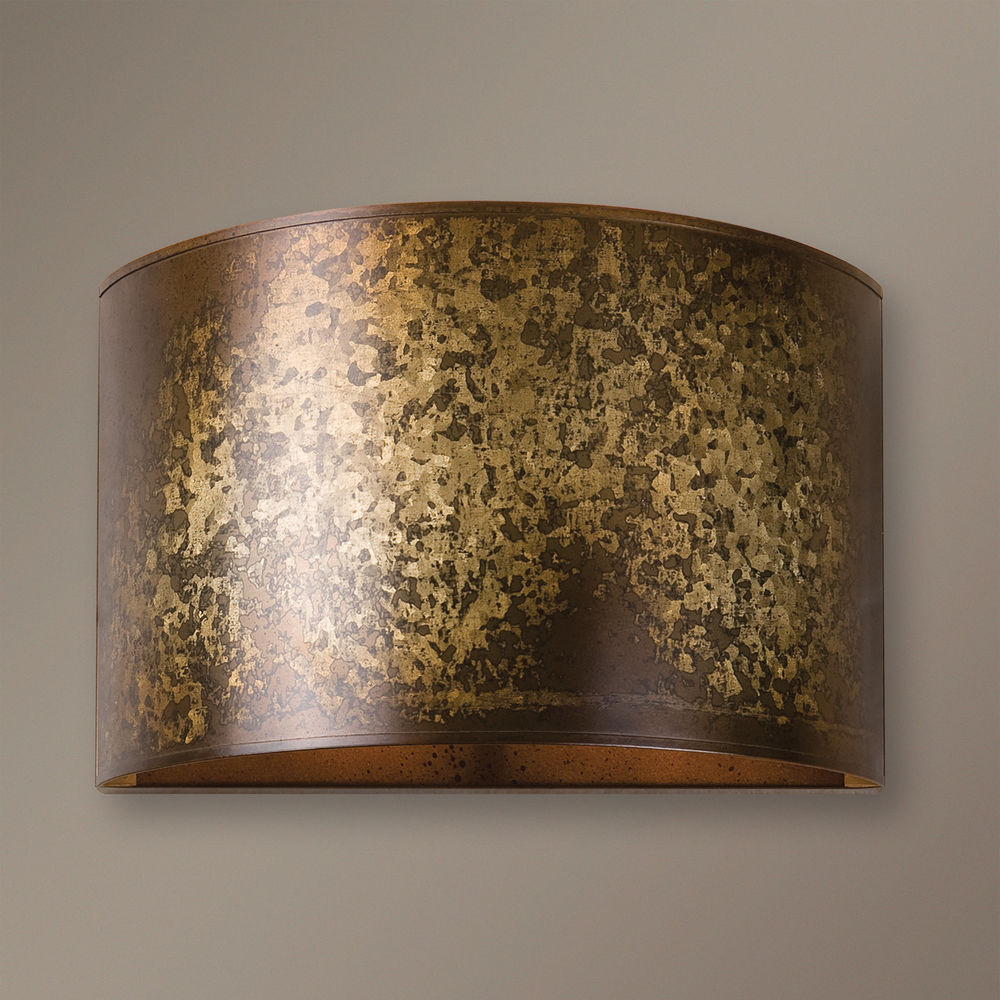 Image of: Galvanized Wall Sconce Bronze