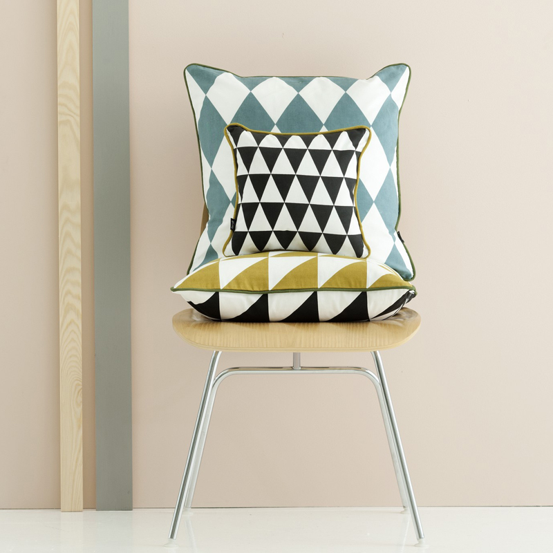 Image of: Geometry Mint Pillows