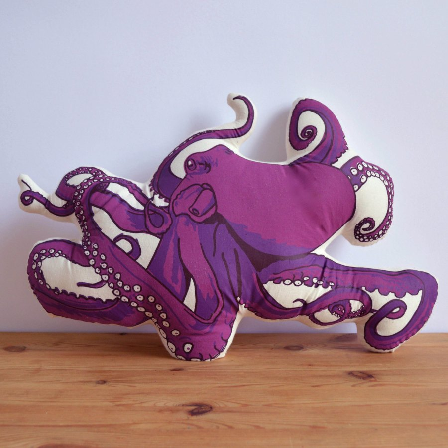 Image of: Giant Octopus Pillow