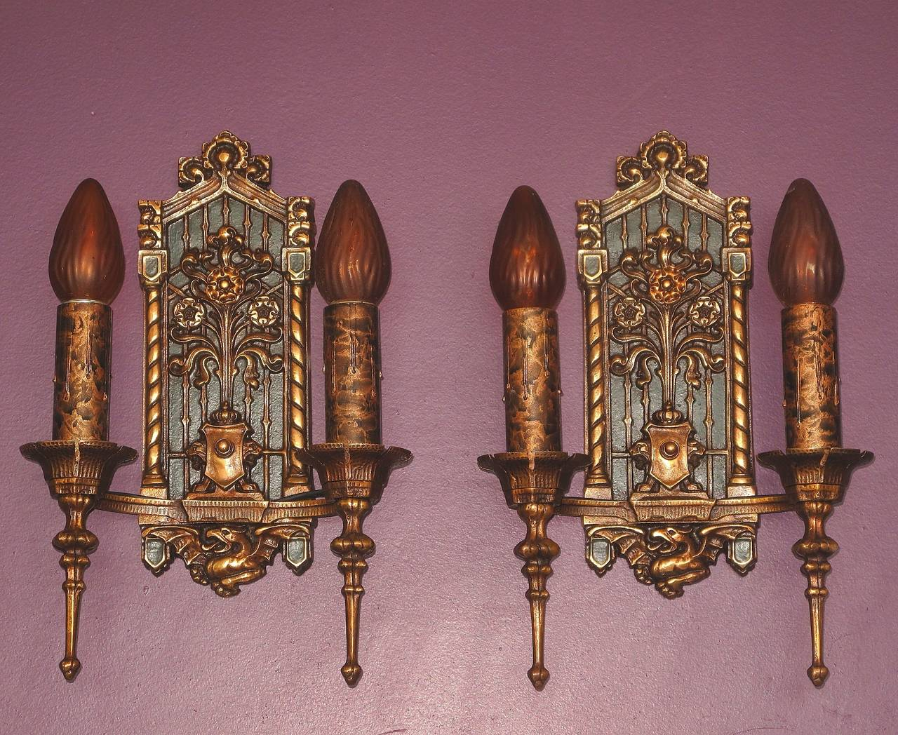 Image of: Gothic Wall Sconce Bronze