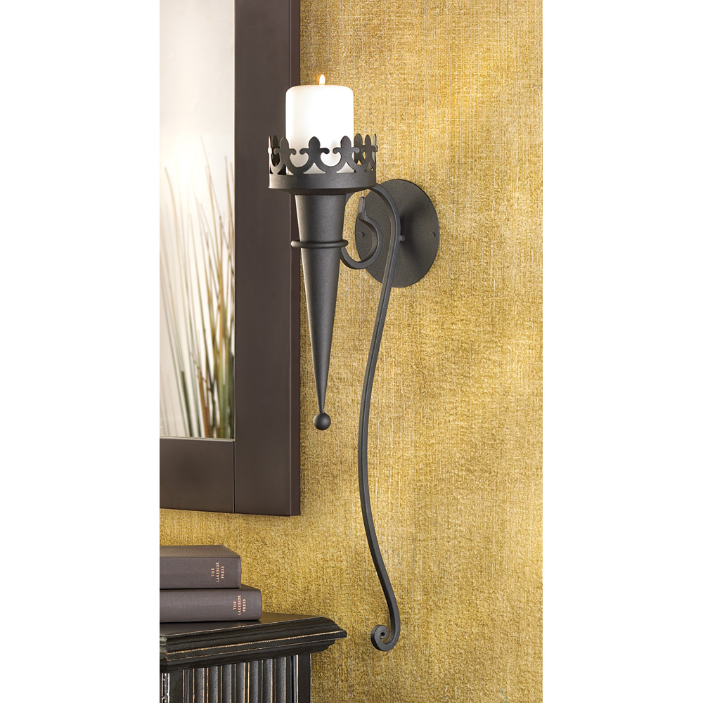 Image of: Gothic Wall Sconce Torch