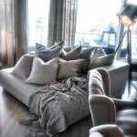 Gray Oversized Pillows Floor