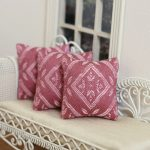 Green and Pink Throw Pillows