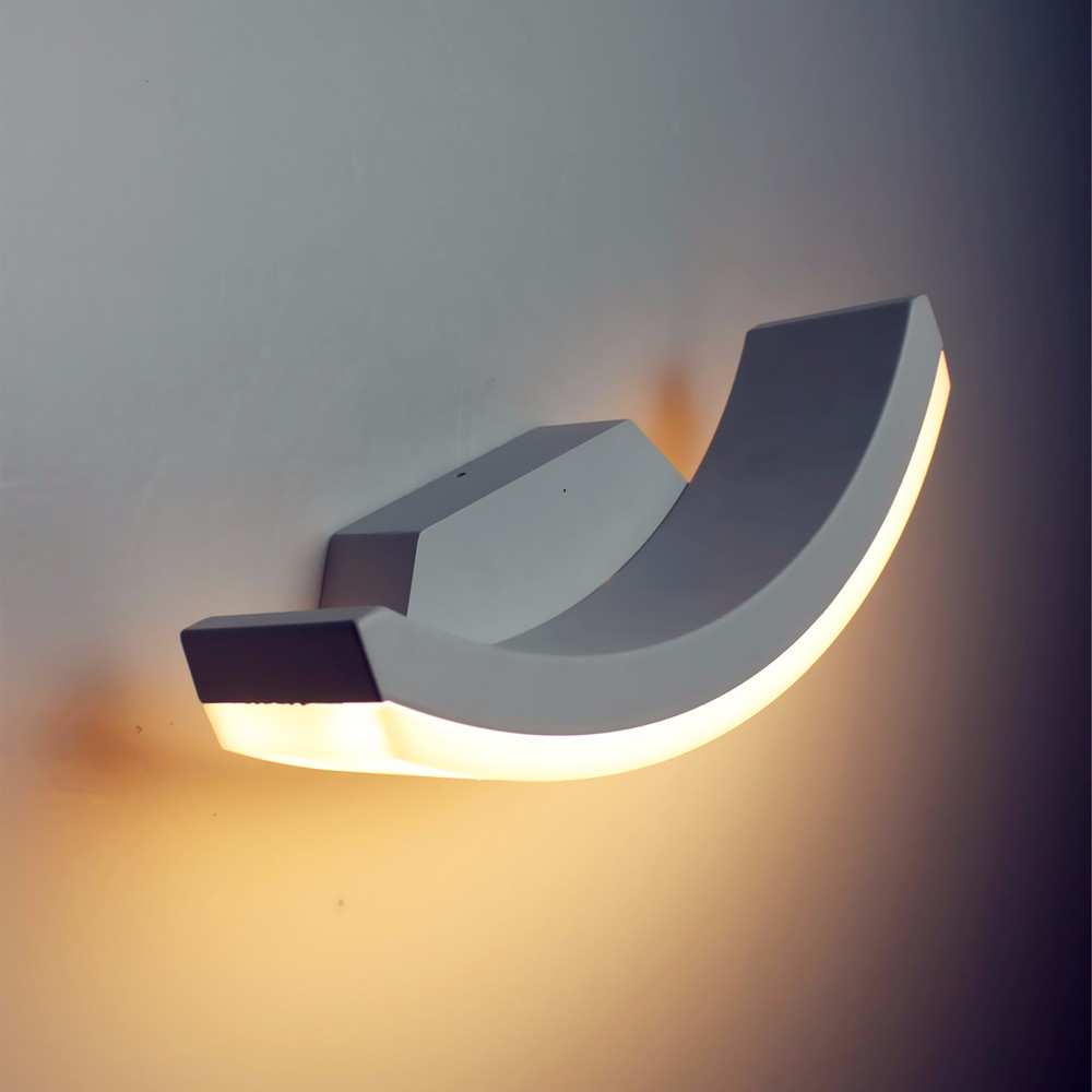 Image of: Half Moon Wall Sconce Model