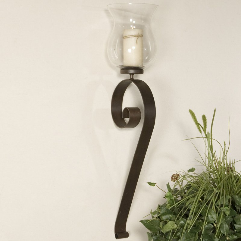 Image of: Hurricane Lantern Wall Sconce