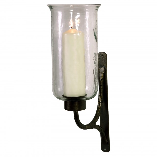 Image of: Hurricane Wall Sconce Candle Holder