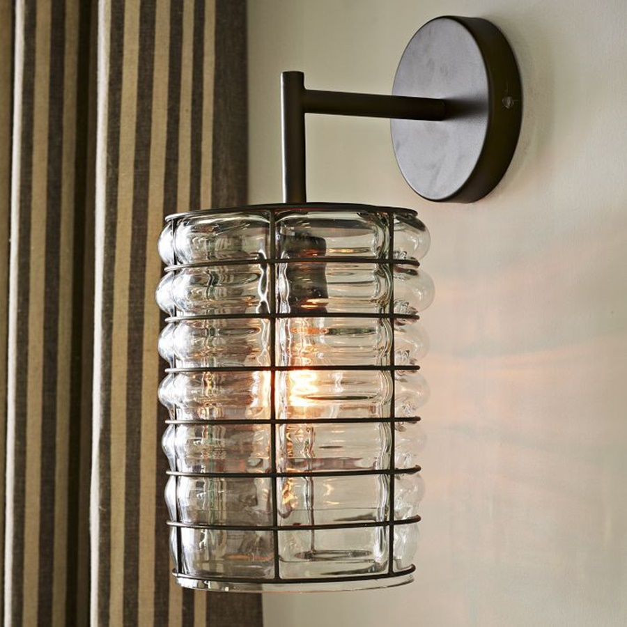 Image of: IKEA Wall Sconces Glass