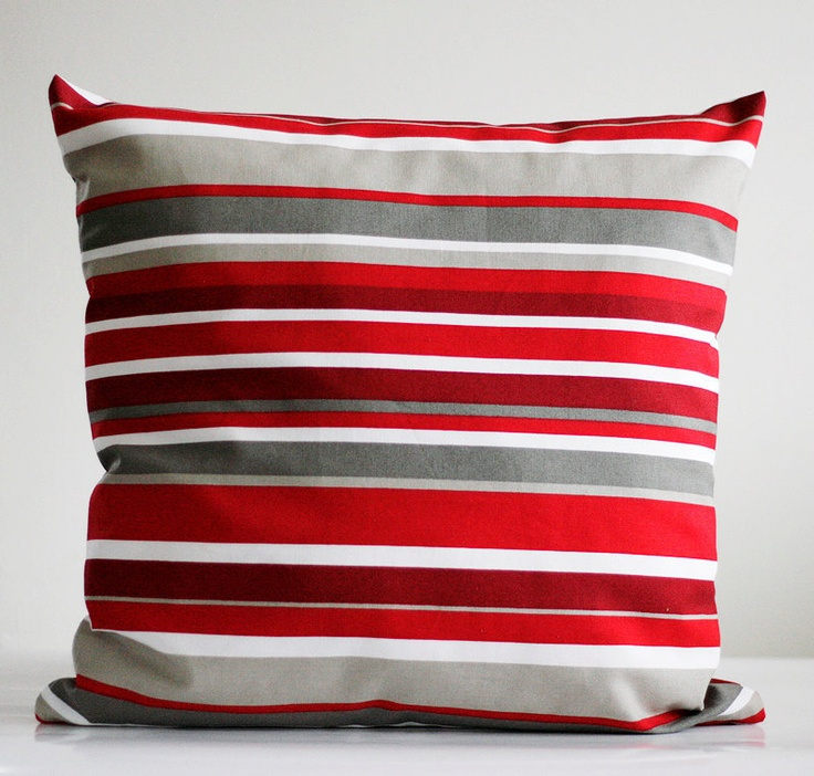 Image of: Idea Red And Grey Throw Pillows