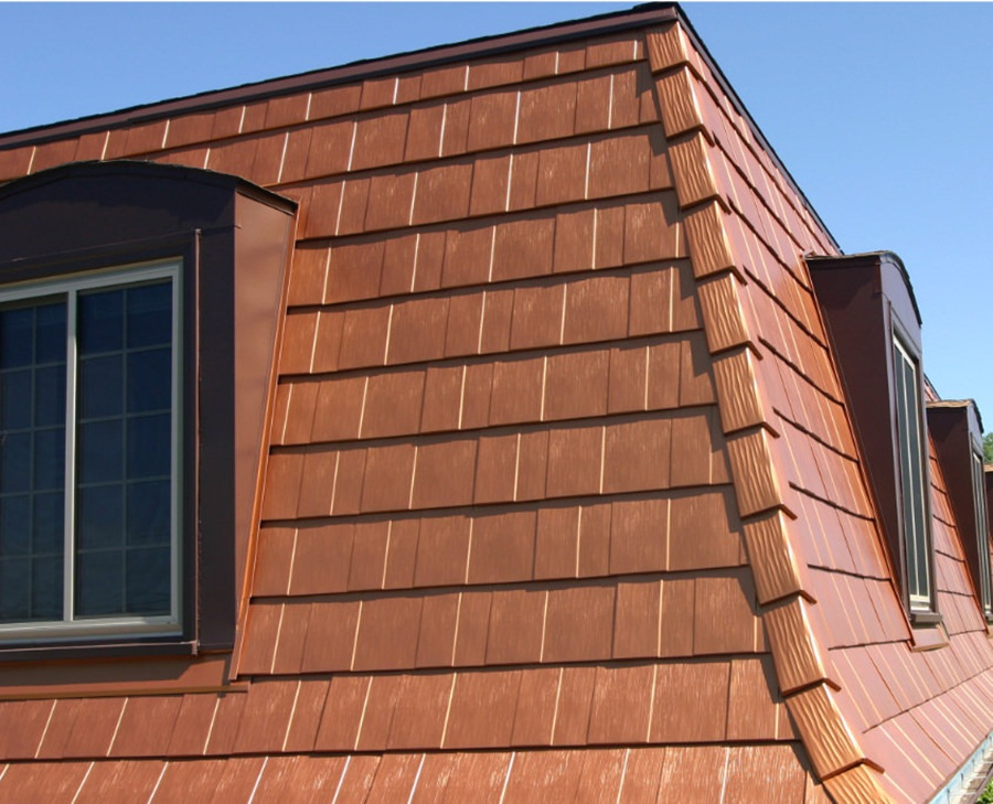 Image of: Ideas For Copper Roof Shingles