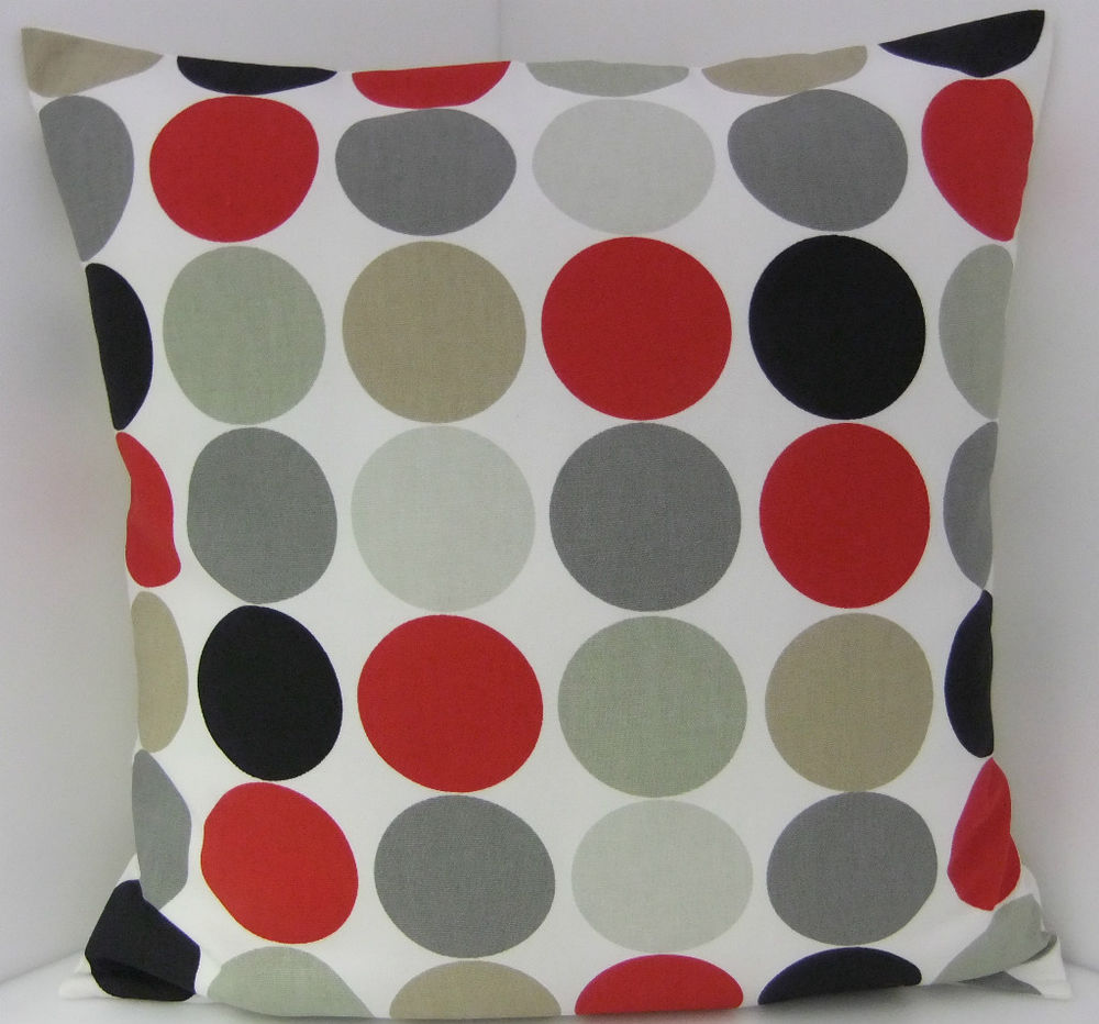 Image of: Ideas Red And Grey Throw Pillows