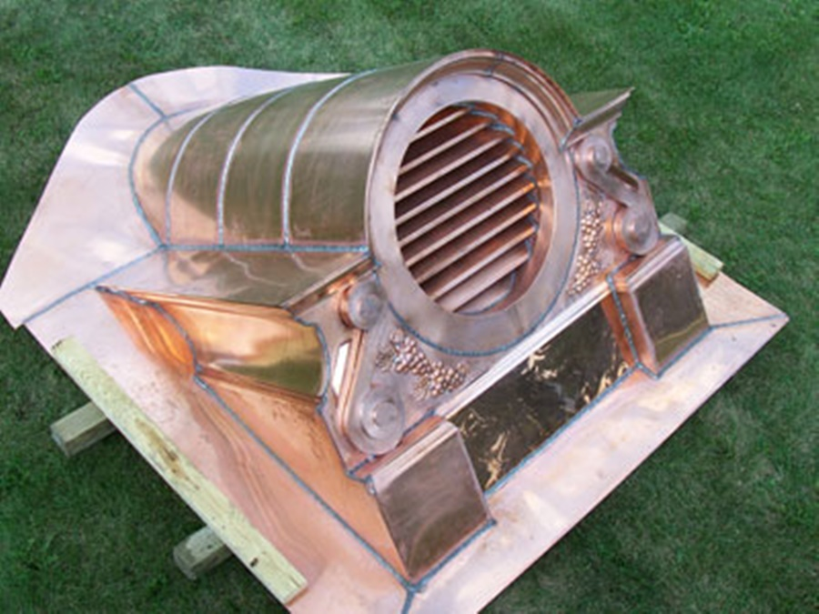 Image of: Image Copper Roof Vents