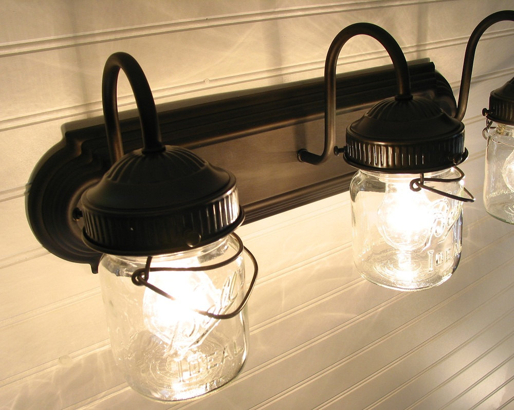 Image of: Industrial Bathroom Sconce Design