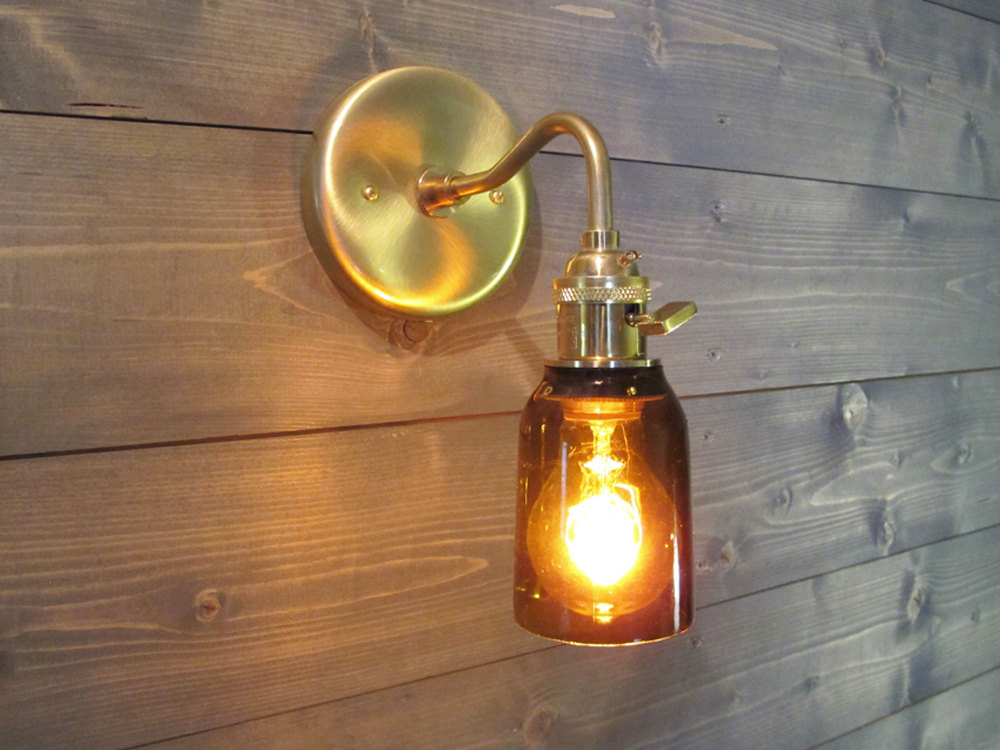 Image of: Industrial Sconce Lighting Design