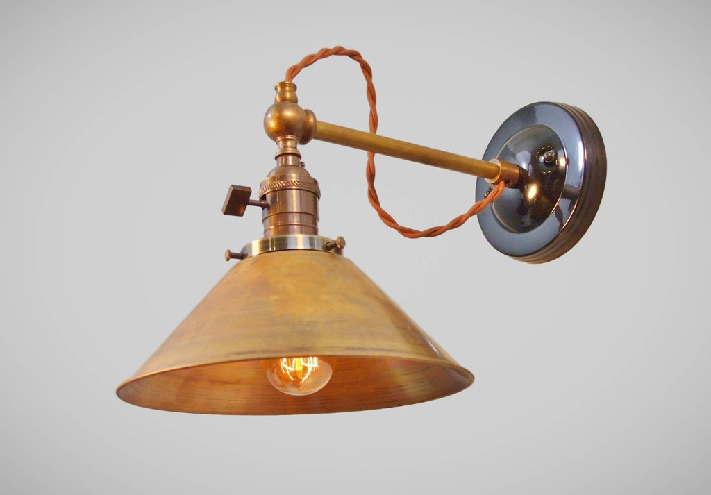 Image of: Industrial Sconce Lighting Types