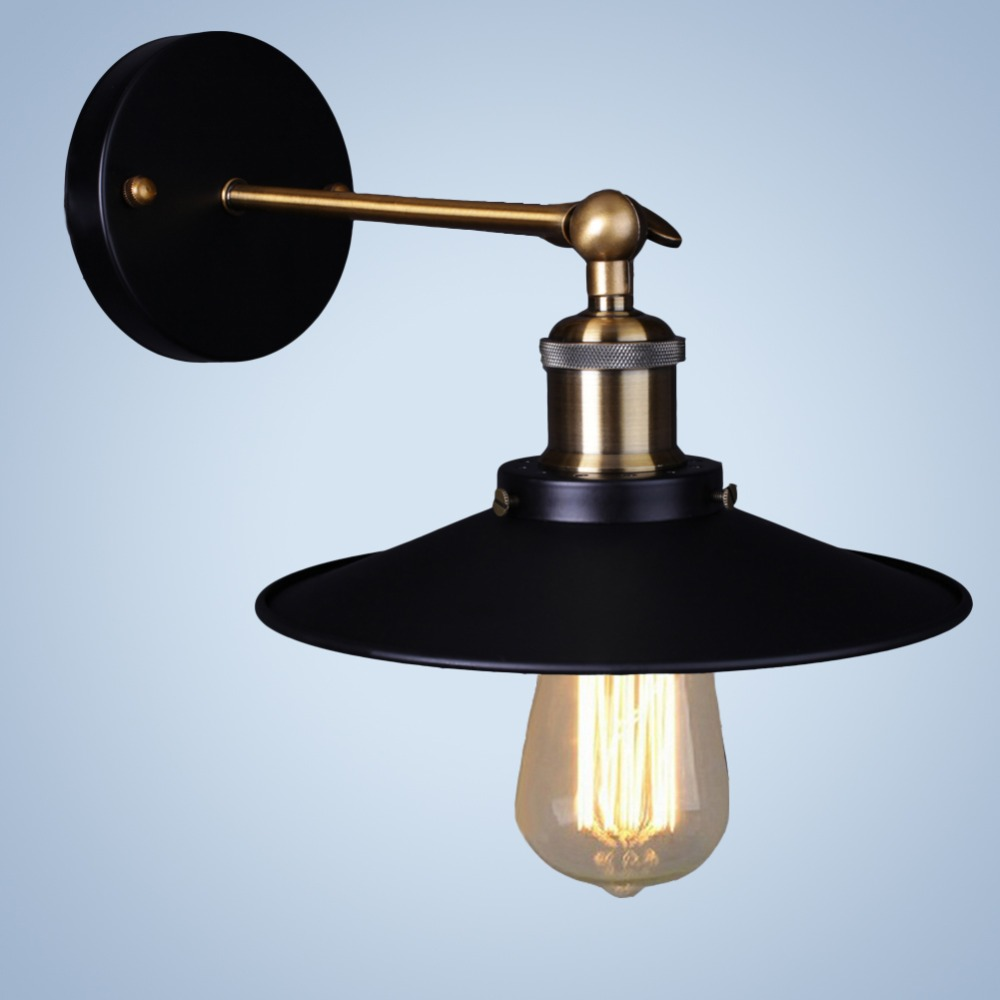 Image of: Industrial Wall Sconce Light Black