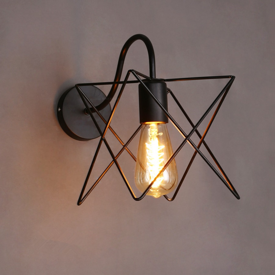 Image of: Iron Cage Sconce