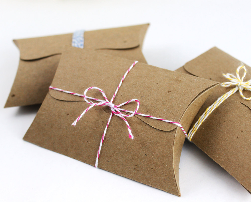 Kraft Pillow Boxes