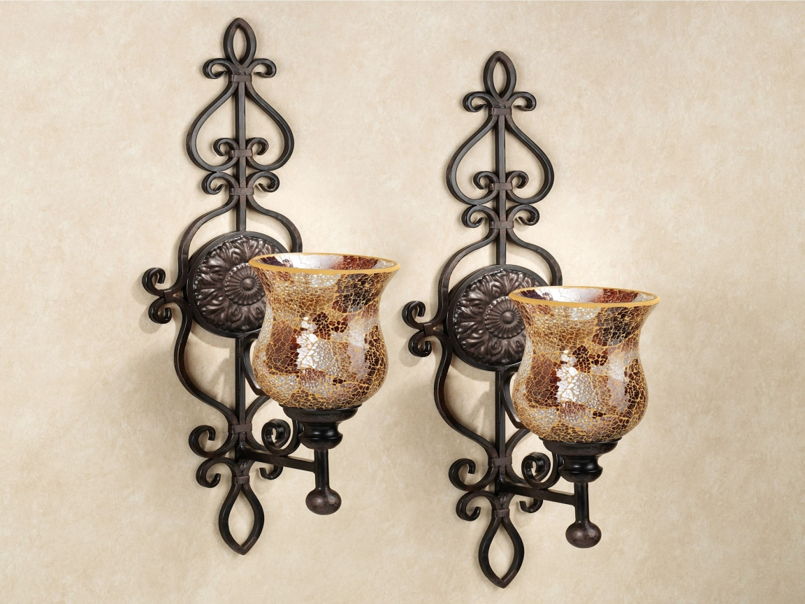 Image of: Large Candle Wall Sconces Battery Operated