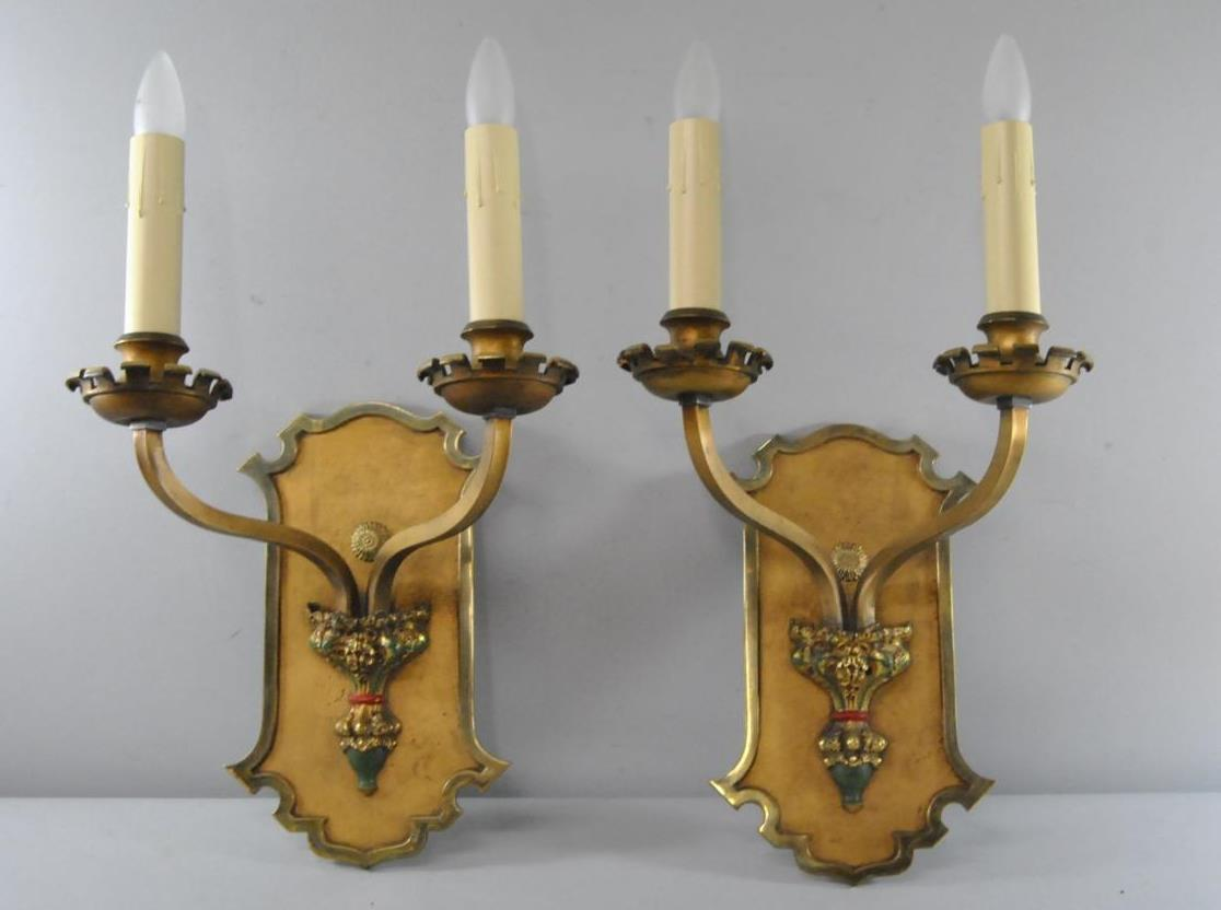 Large Candle Wall Sconces Brass