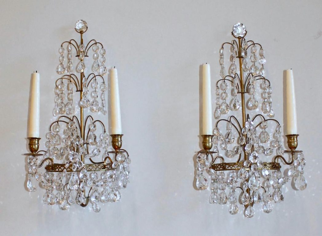 Image of: Large Candle Wall Sconces Bronze