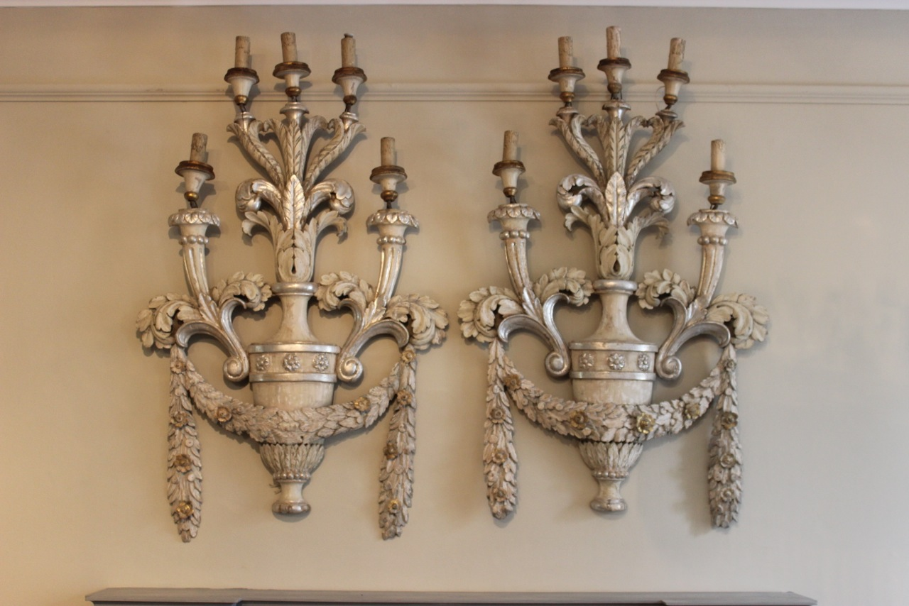 Image of: Large Sconces Antique