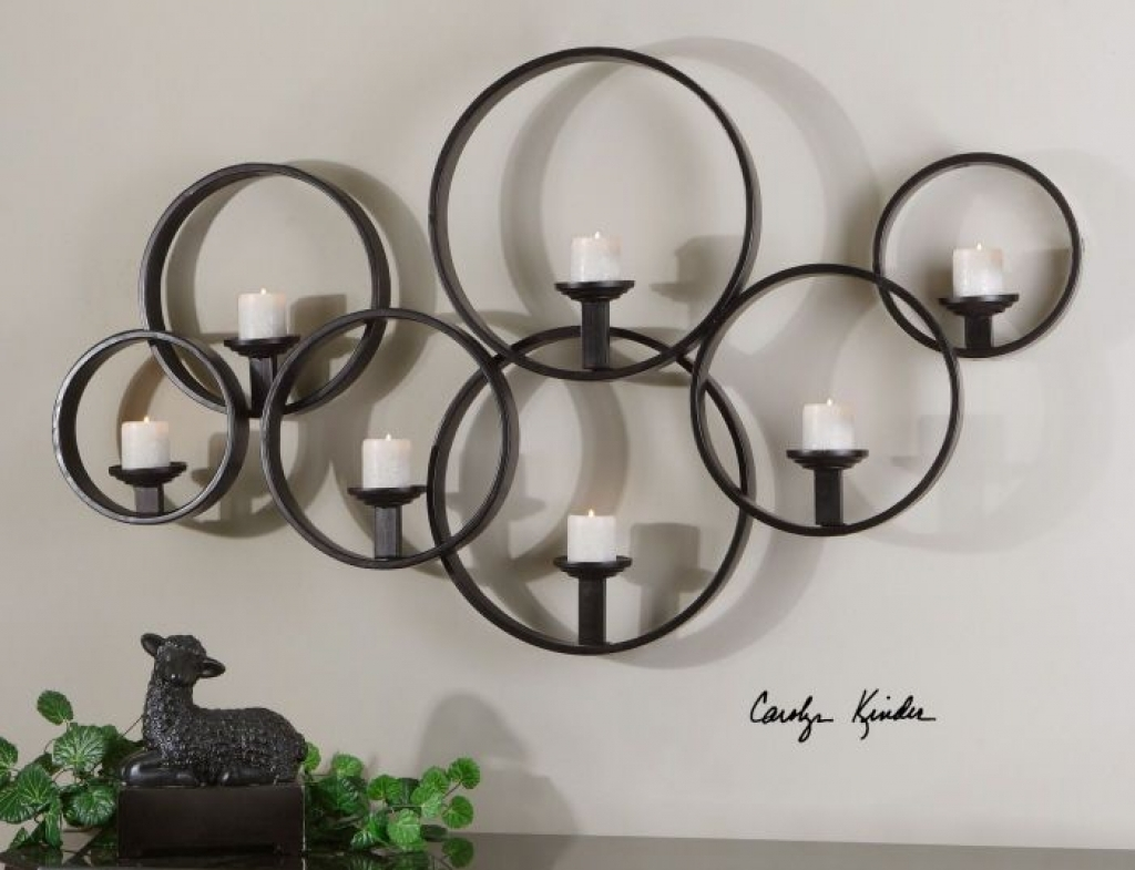 Image of: Large Sconces with Candles