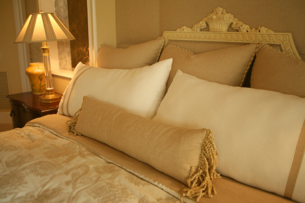 Image of: Large Throw Pillows for Bed