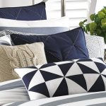 Lawndale Navy Throw Pillows