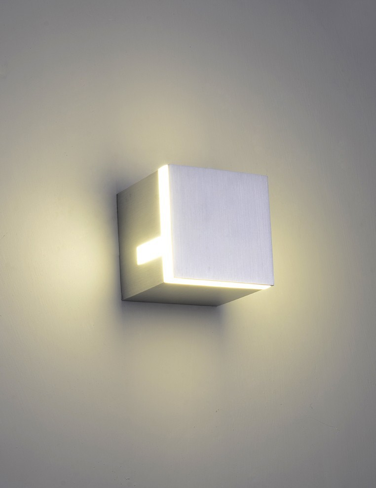Image of: Led Wall Sconces Indoor Square