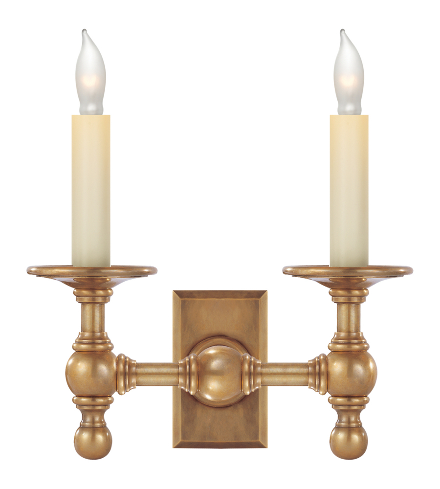 Image of: Library Double Sconce