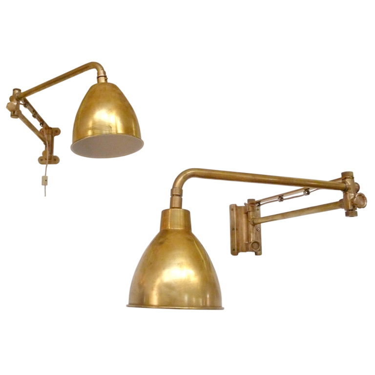 Image of: Library Sconce Gold
