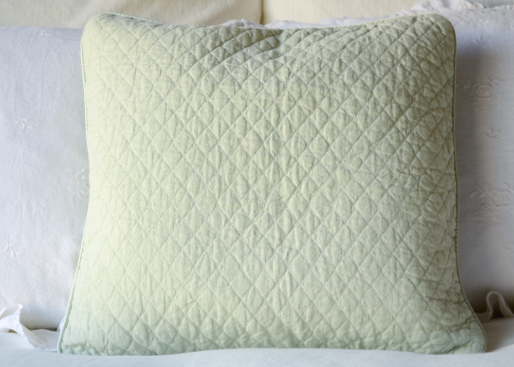Image of: Linen Mint Green Throw Pillows