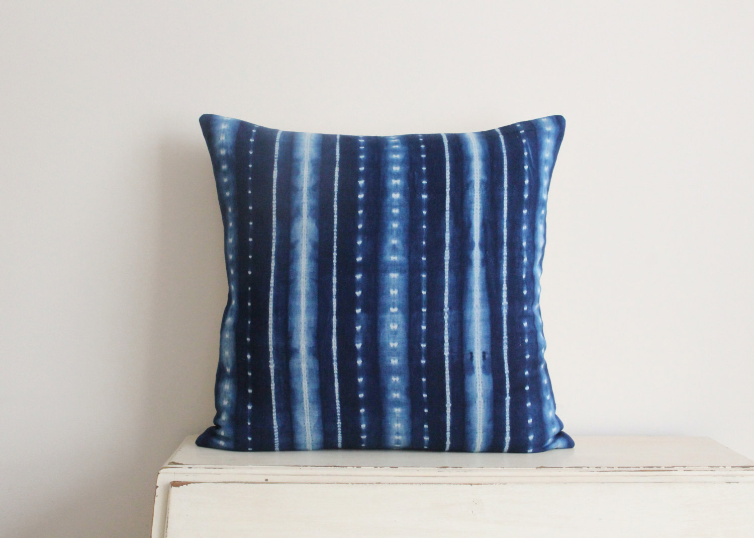 Image of: Linen Shibori Pillow