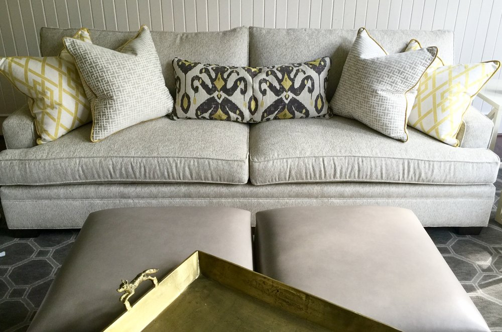 Image of: Long Couch Pillows Design