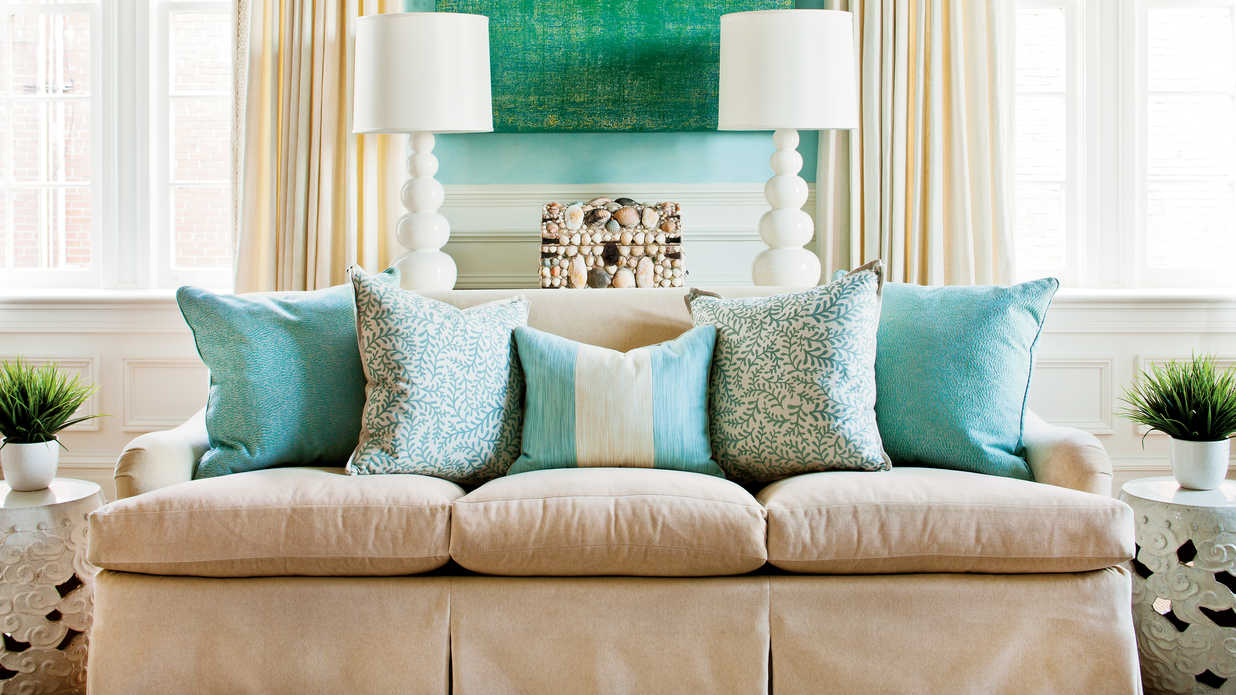 Image of: Long Couch Pillows Style