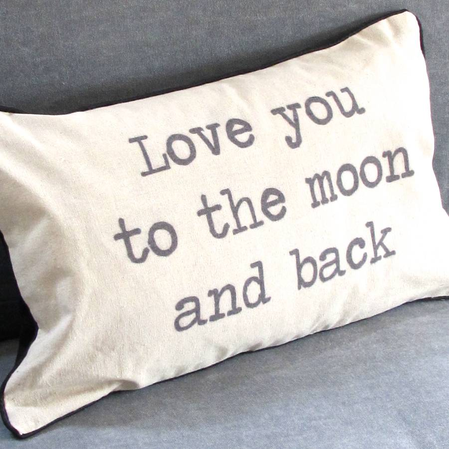 Image of: Love To The Moon And Back Pillow