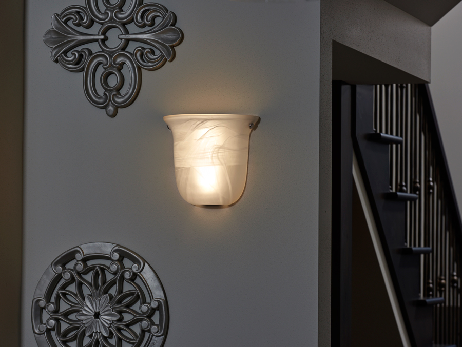Image of: Marble Battery Powered Sconces