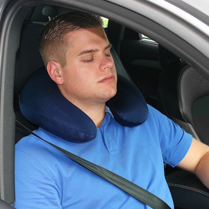 Image of: Memory Foam Travel Pillow Car