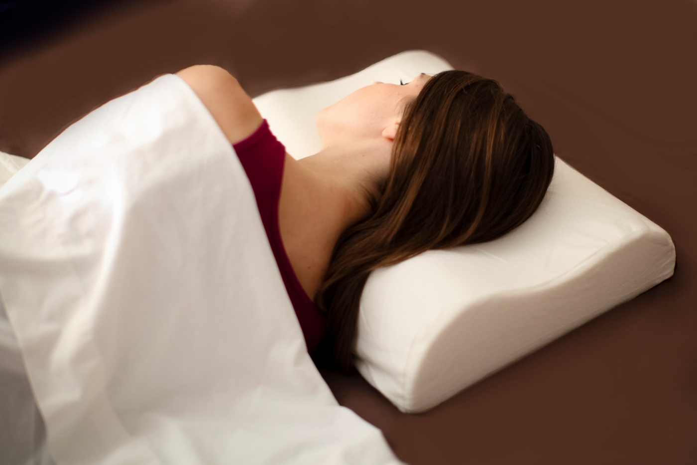 Image of: Memory Foam Travel Pillow Support