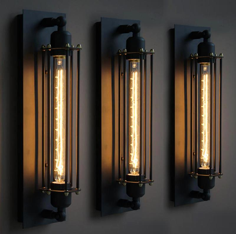Image of: Metal Black Sconce Lights