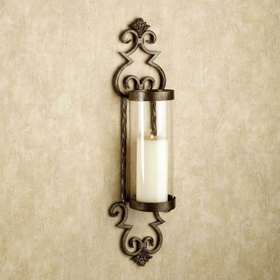 Image of: Metal Iron Candle Sconce