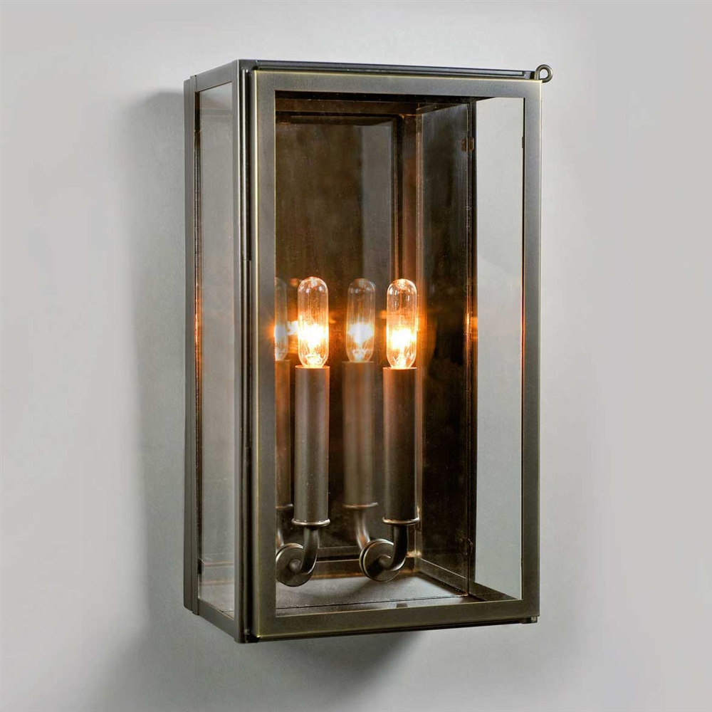 Image of: Metal Lantern Sconce Indoor