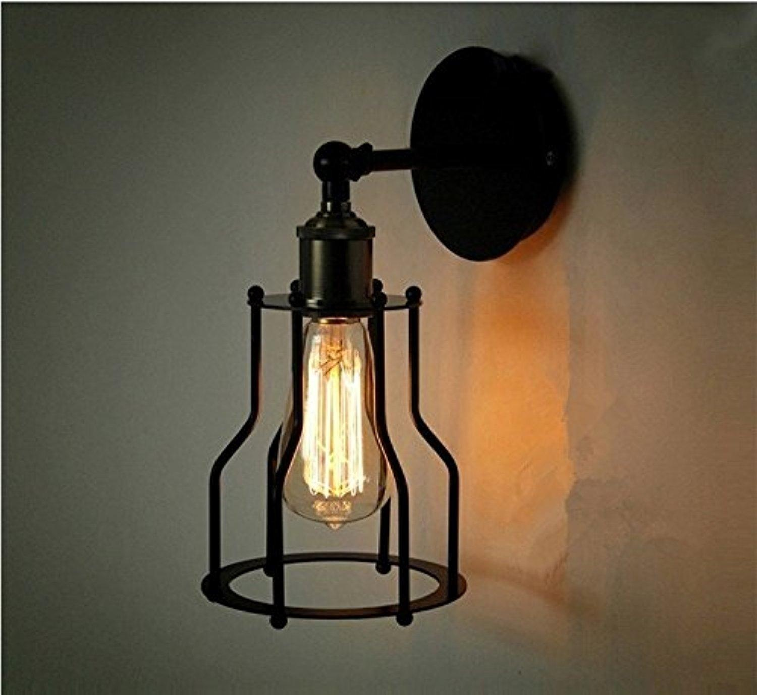 Image of: Mini Cage Wall Sconce