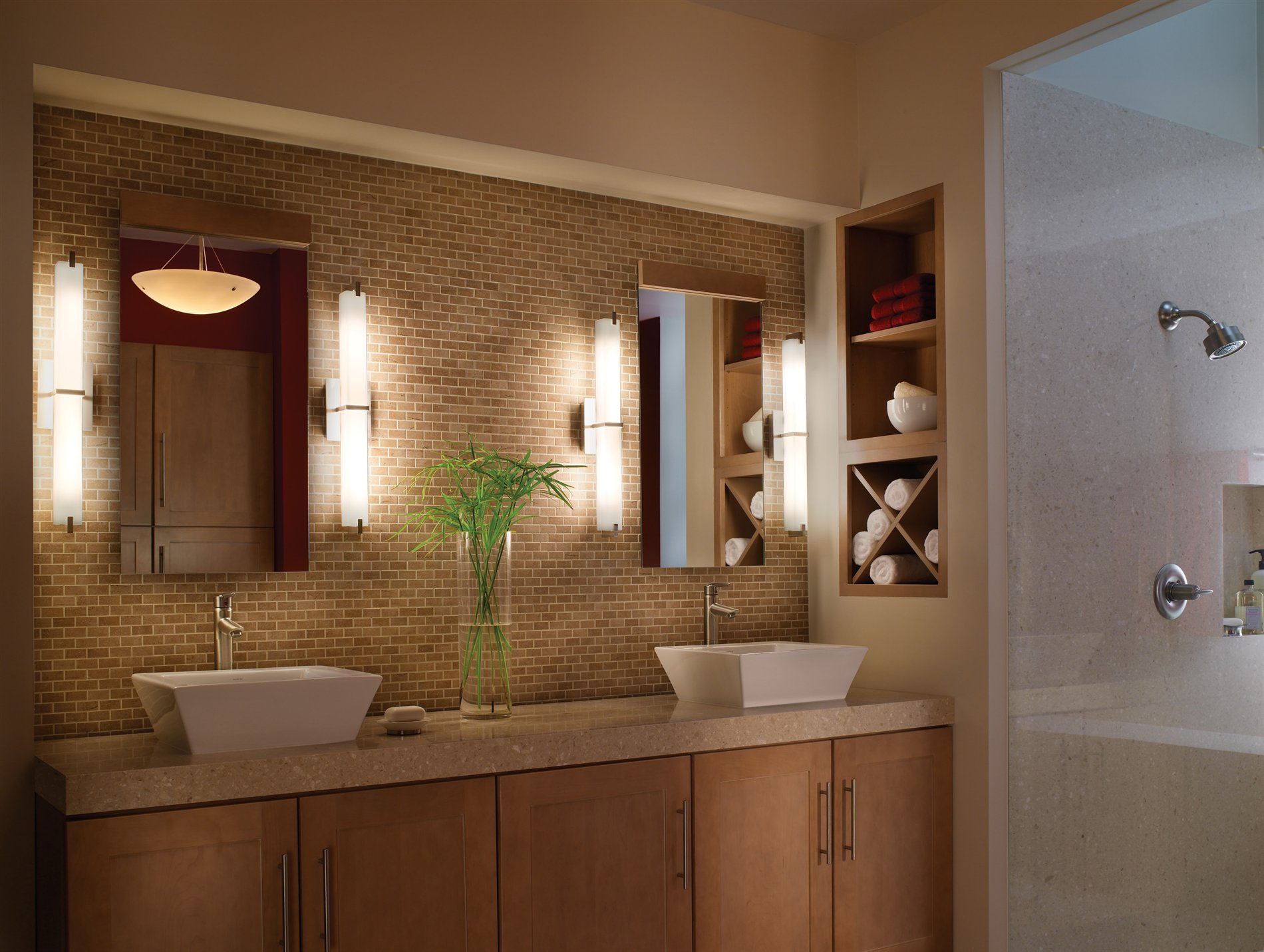Image of: Modern Bathroom Vanity Sconces