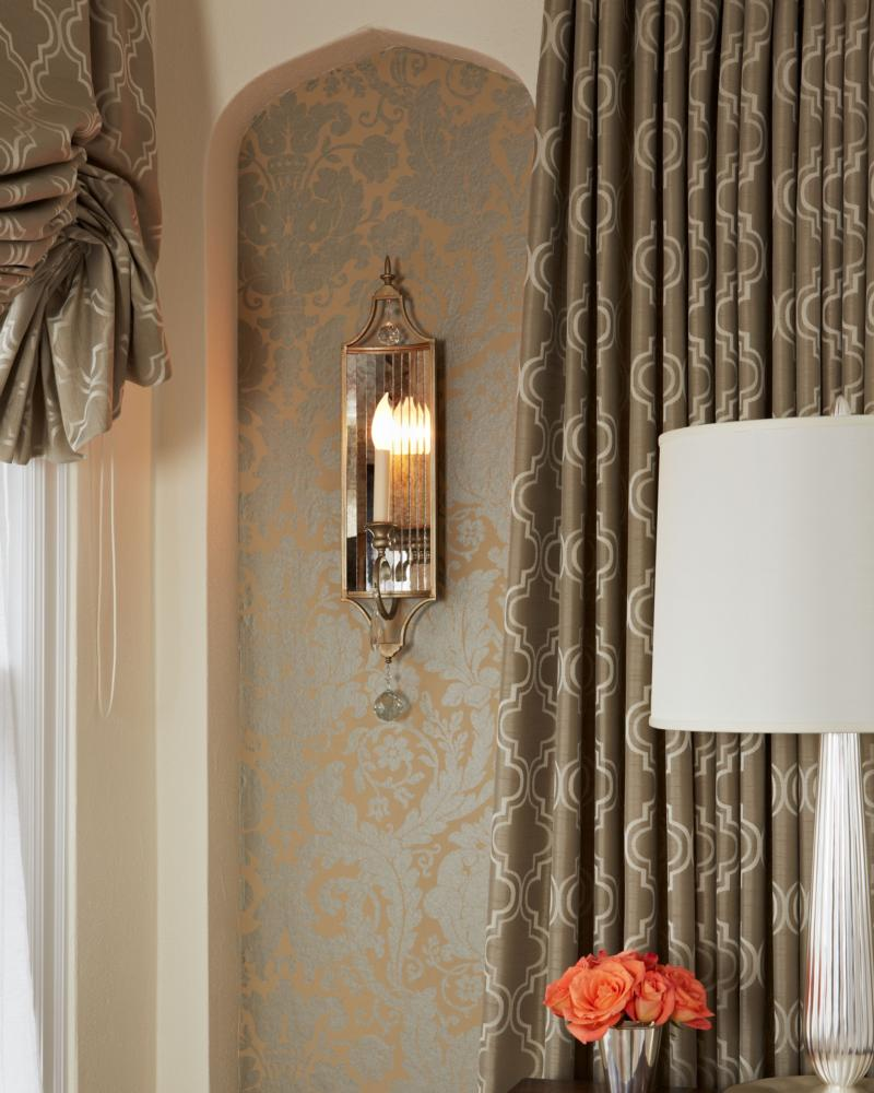 Image of: Modern Curtain Sconces