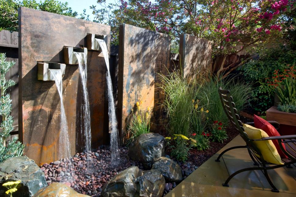 Image of: Modern DIY Wall Fountain