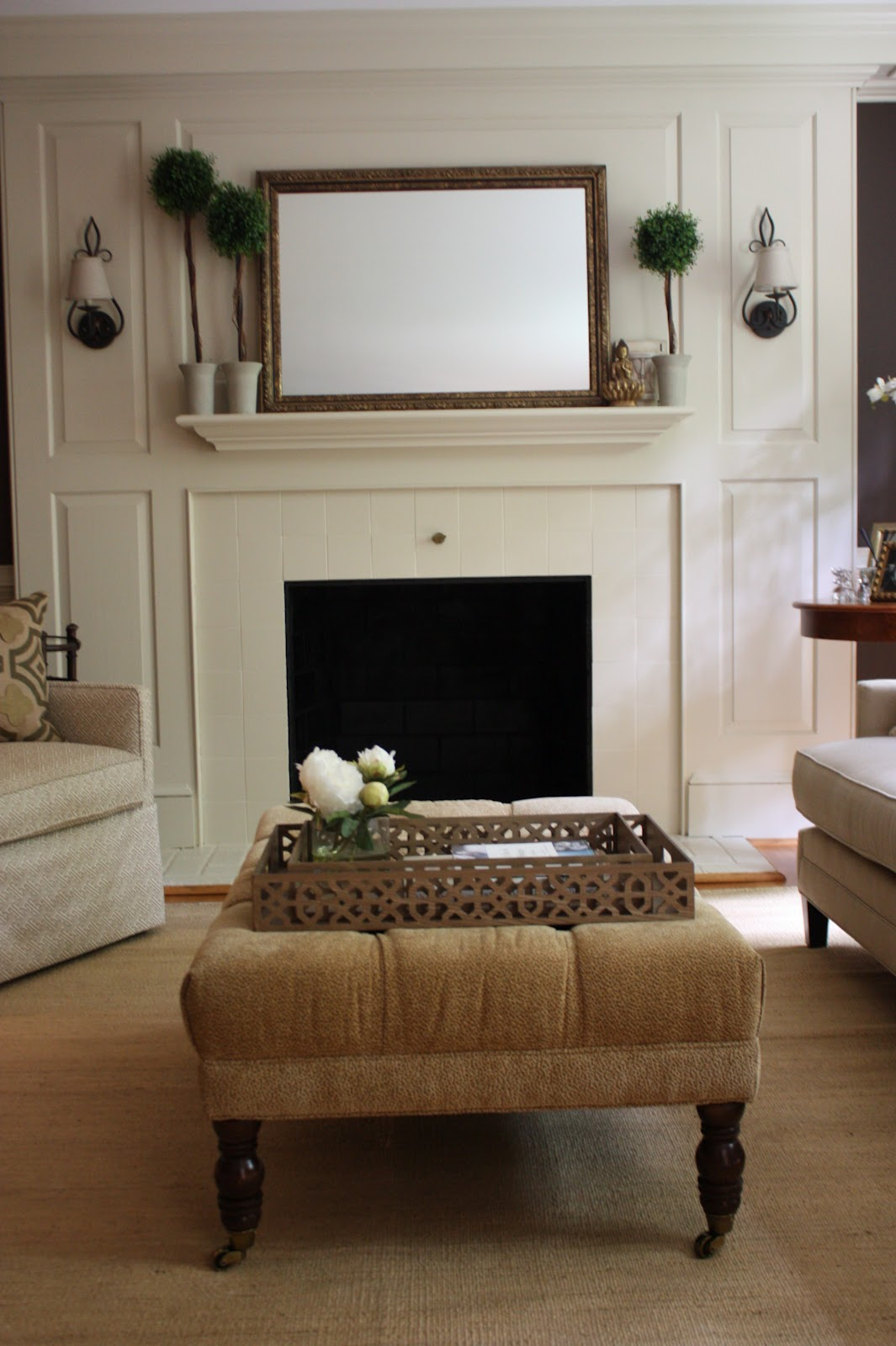 Image of: Modern Fireplace Sconces