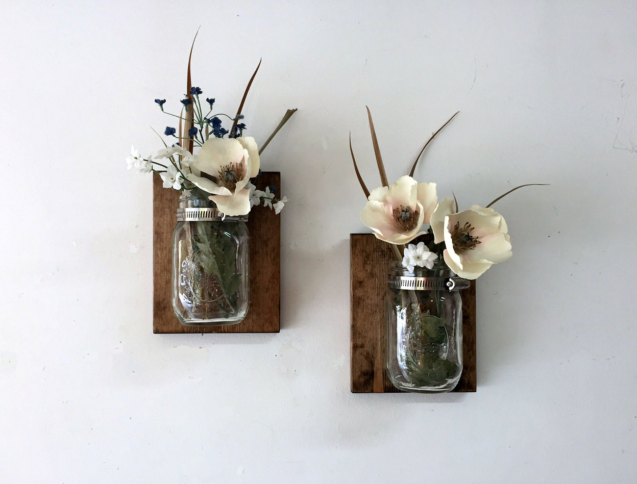 Image of: Modern Floral Wall Sconces